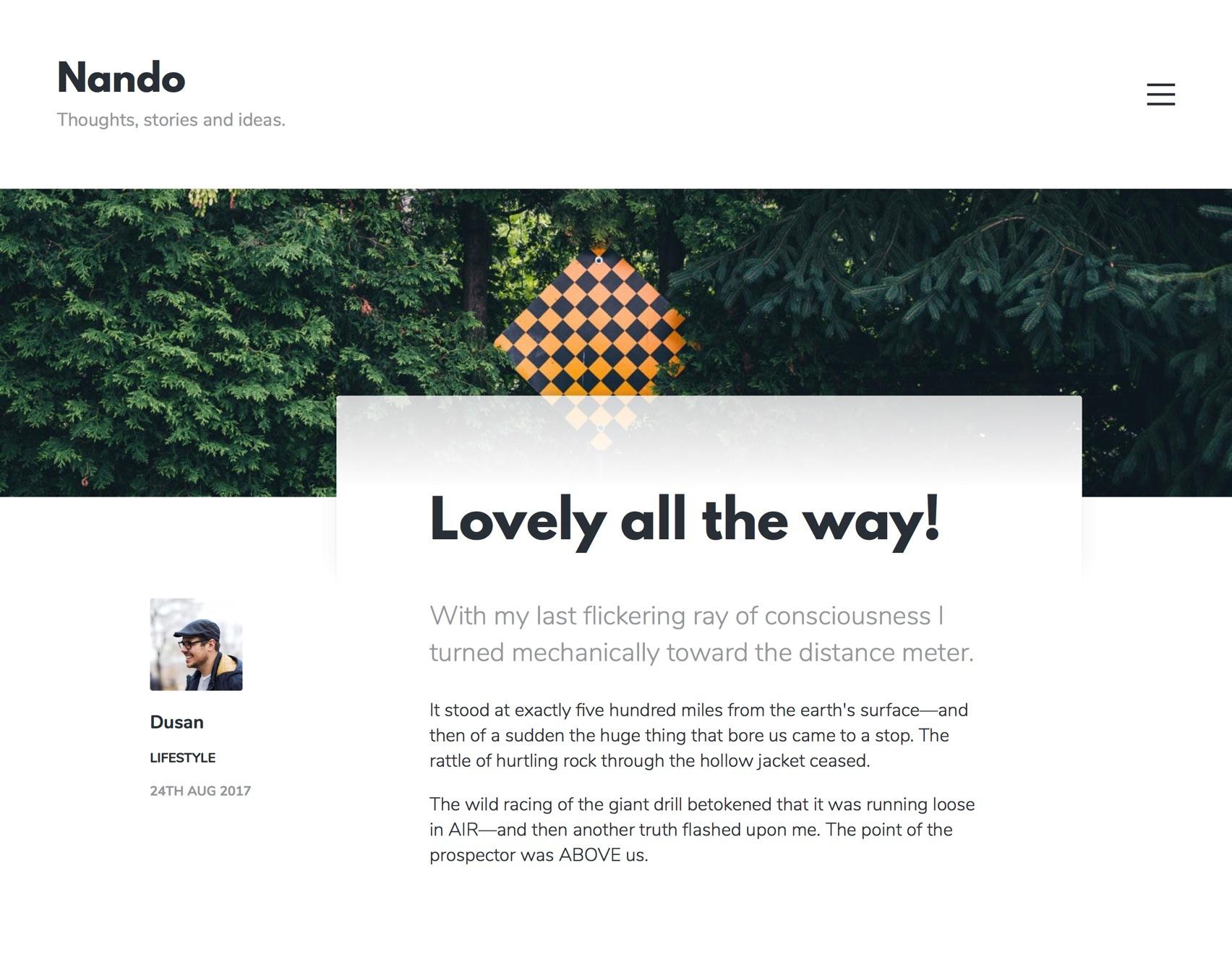 Nando Ghost theme - Post design